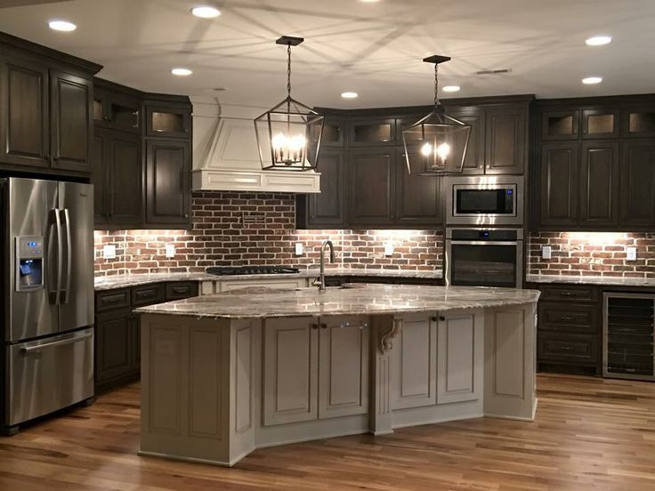 Brown Kitchen Cabinets Backsplash Ideas