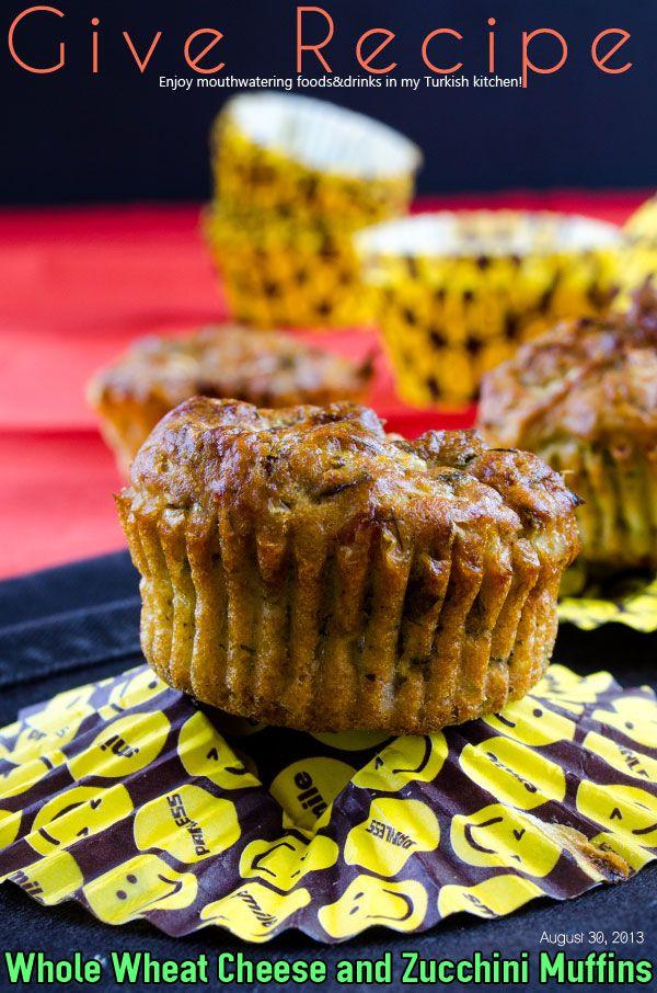 Whole Wheat Cheese and Zucchini Muffins | #muffins #zucchini #savory # ...