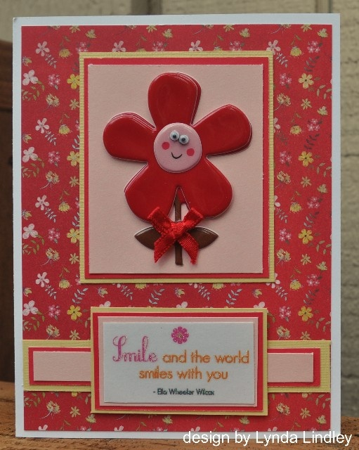 Everything on this card is Momenta...except the googly eyes that I added to the flower!