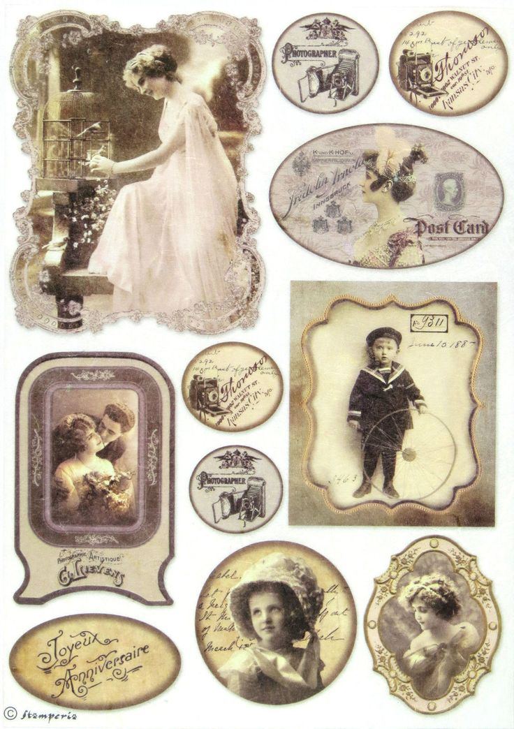 Ricepaper/Decoupage paper,Scrapbooking Sheets /Craft Paper Vintage Wedding Photo | eBay
