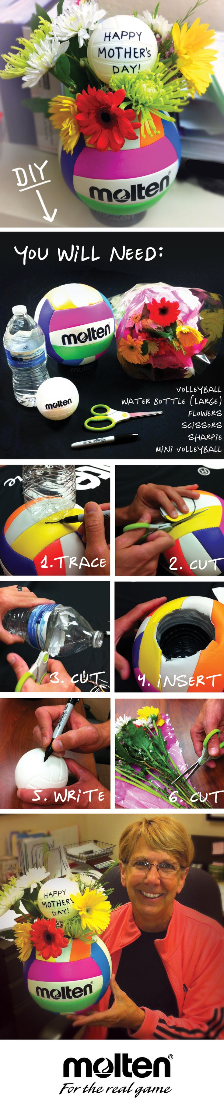 DIY – Mothers Day Volleyball Bouquet! #Molten This is perfect for us volley moms