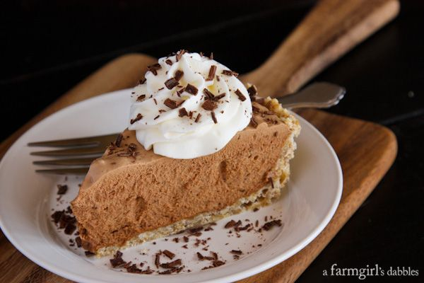 Chocolate French Silk Pie with Salted Pecan Crust - afarmgirlsdabbles ...