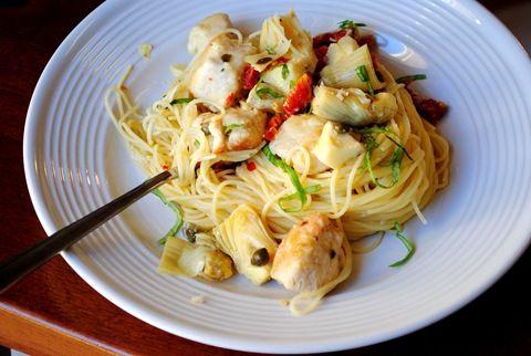 Chicken and Artichoke Angel Hair #tasty # #food #recipe http ...