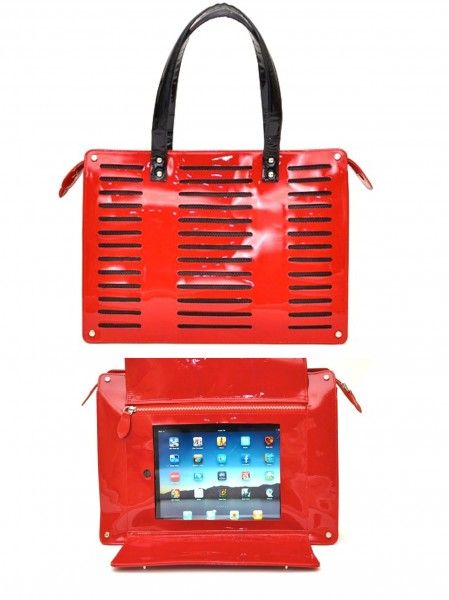 Great design: cool handbag with nifty place to hide your i-pad. Love