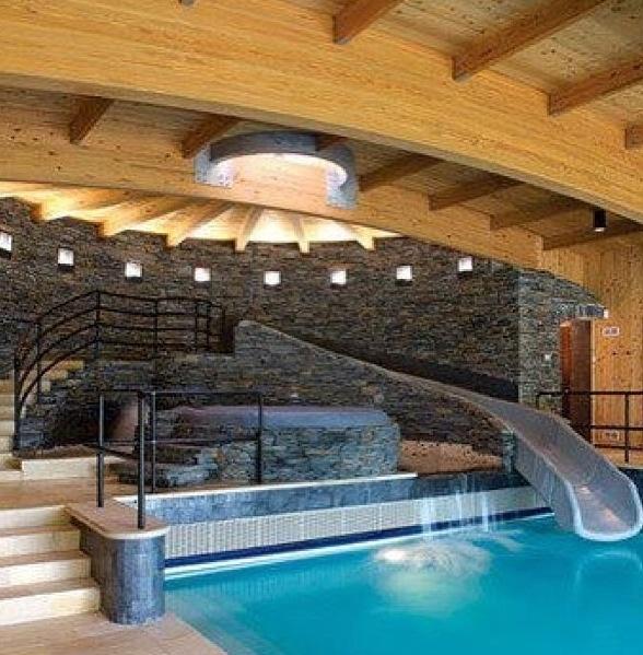 Indoor Pool Room My Dream Log Cabin Awwww Someday Pinterest