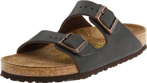 birkenstock arizona dark brown leather