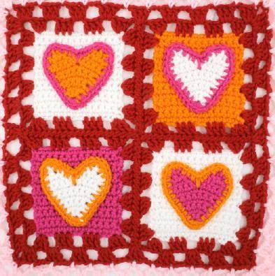 tiny crochet heart pattern |