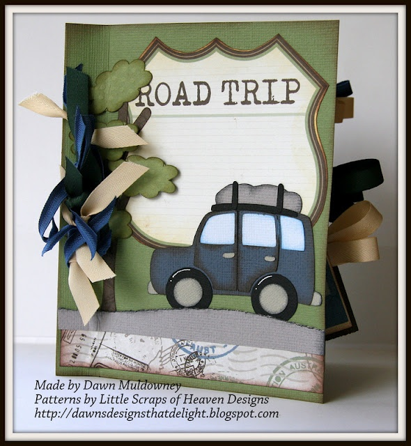 A cute Road Trip mini album made with envelopes.  Link to tutorial included!