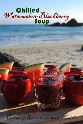 Chilled Watermelon-Blackberry Soup | Super Duper Soups | Pinterest
