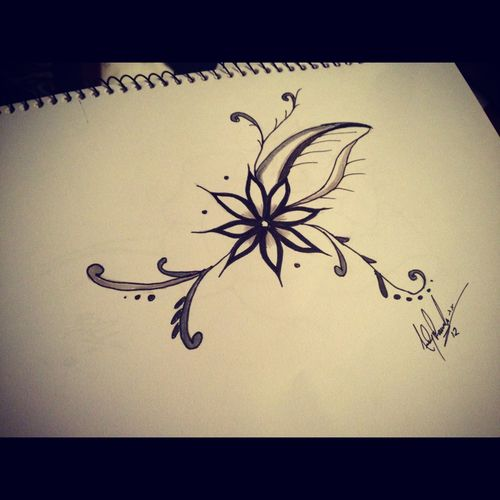 flower drawing | Tumblr | Art ideas | Pinterest