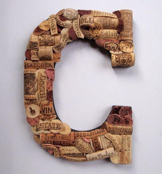 Customized Handmade Vintage Wine Cork Letter - Large Size - We Have E ...