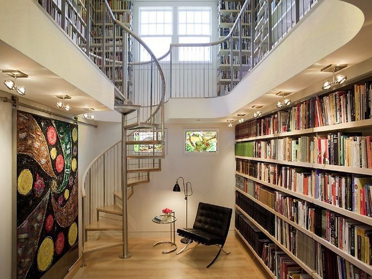 I'd love a spiral staircase in my home library