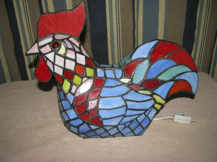 stained glass rooster lamp. Black Bedroom Furniture Sets. Home Design Ideas