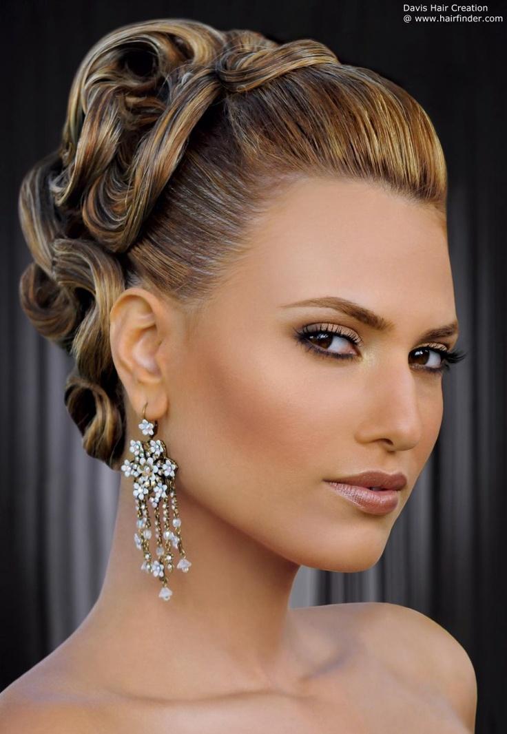 banana peel hairstyle : Ballroom hairstyle health and beauty Pinterest