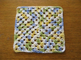 How to Crochet a Granny Square Dishcloth - Skip To My Lou