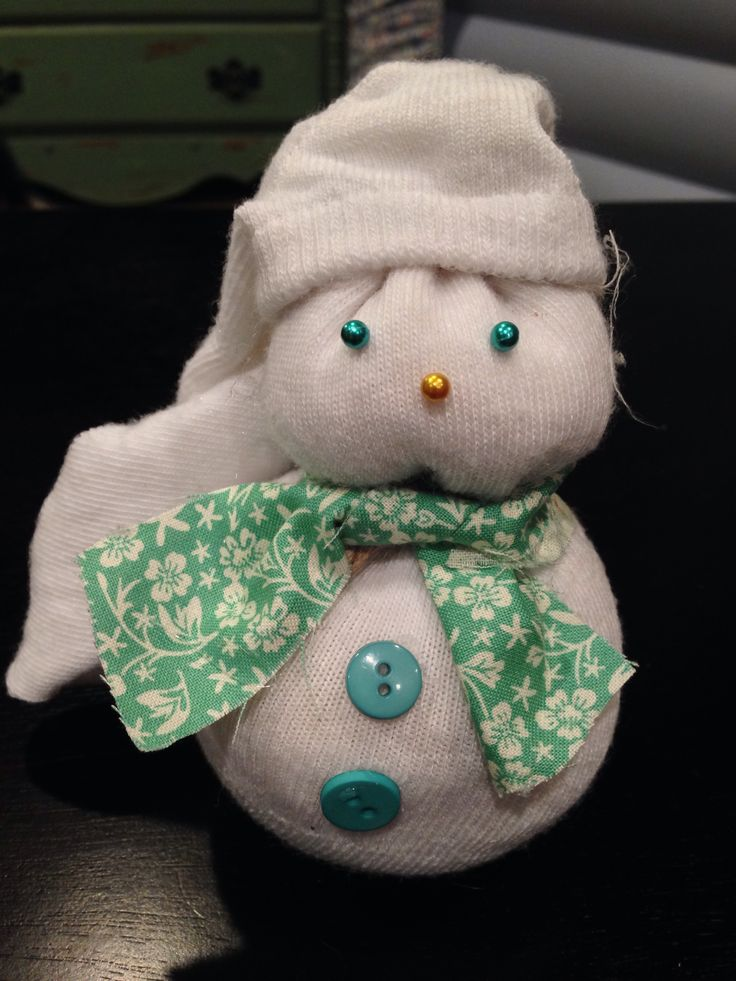 Snowman made from a sock and rice | Christmas & Gift Ideas | Pinterest