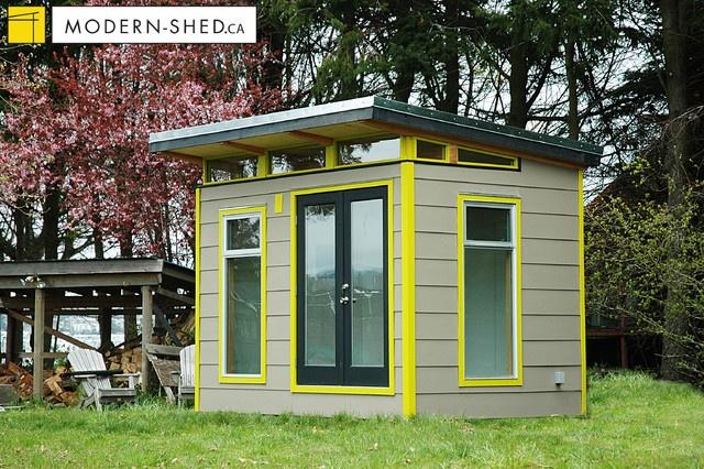 8×12 Coastal ModernShed modern exterior  Home Design Interiors  P