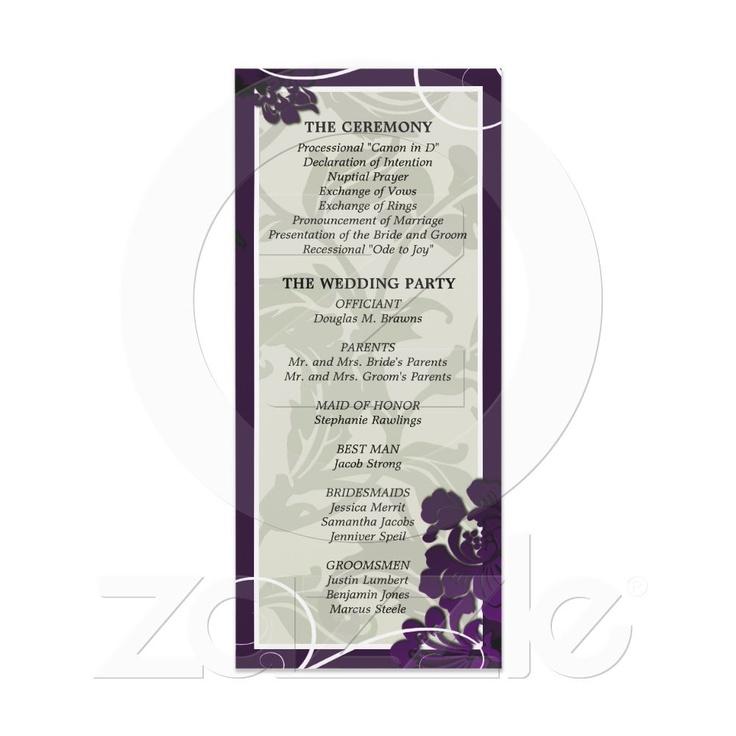 Purple Floral Swirl Rack Card