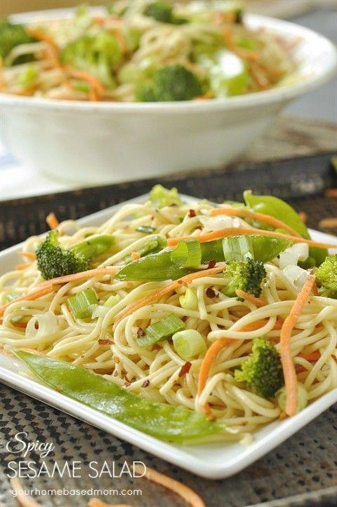 salad with spicy sesame peanut dressing recipes vegan broccoli salad ...