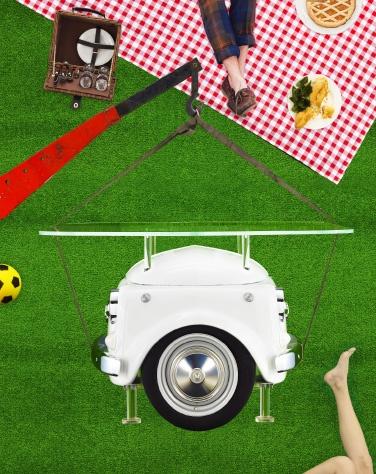 Table De Picnic : Une drôle de table de picnic...  Du rétro, du vintage  Pinterest