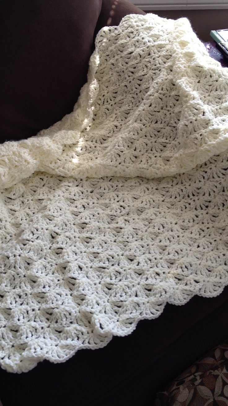 Knit Shell Stitch Baby Blanket : Shell stitch baby blanket Knit and crochet Pinterest