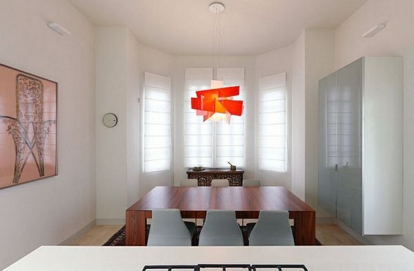 Wie sieht das moderne esszimmer aus holz esstisch für sechs