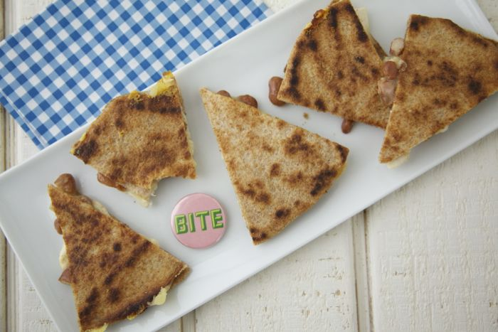 Chicken, Bean and Cheese Quesadillas on Weelicious