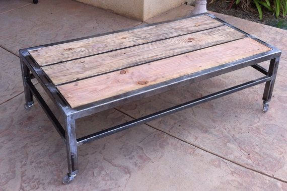 Custom Metal And Wood Coffee Table
