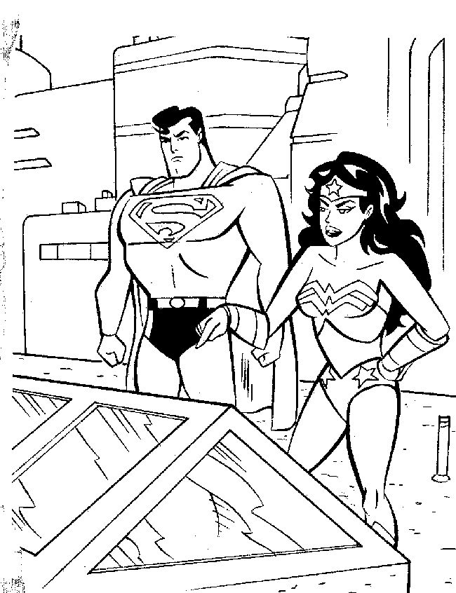 dc heroes free coloring pages - photo#8