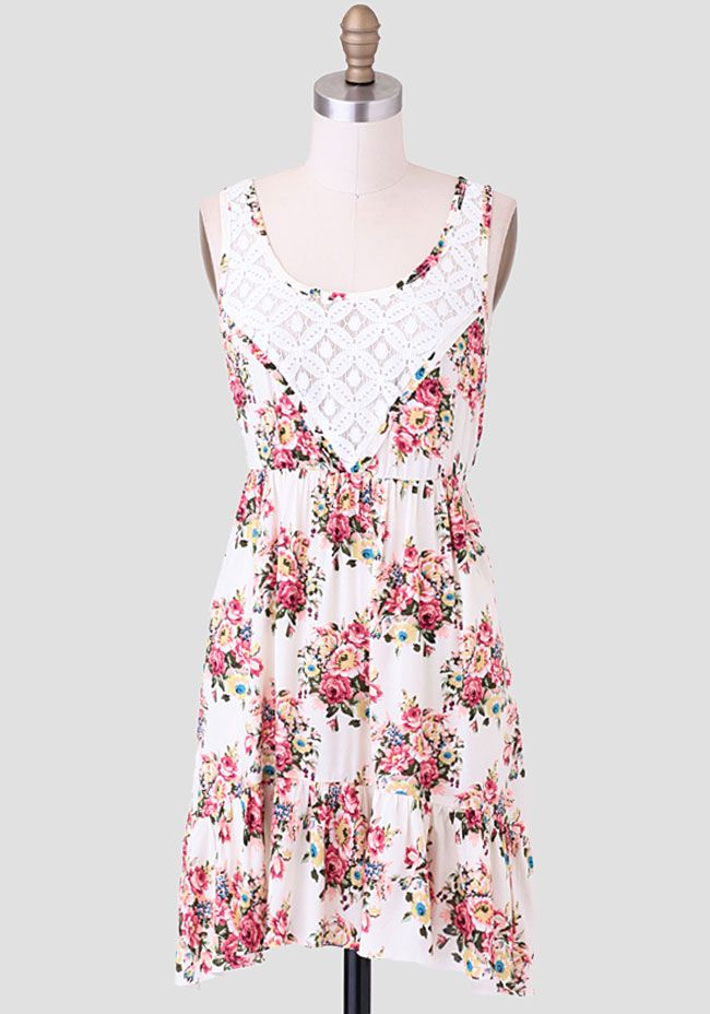 Line Dance Floral Dress at #Ruche @Ruche