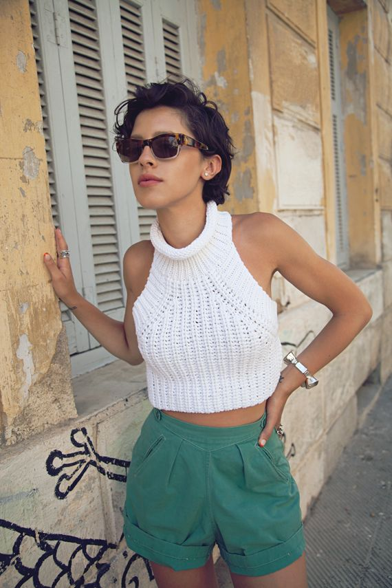 Alexander Wang knit crop top.