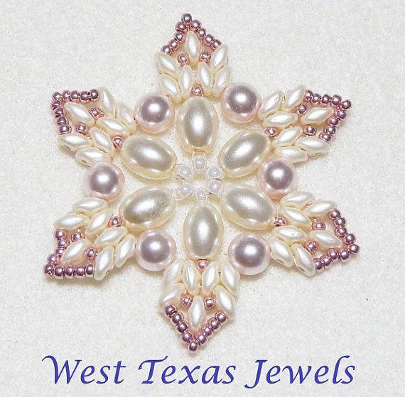 snowflake 10 beaded ornament pattern