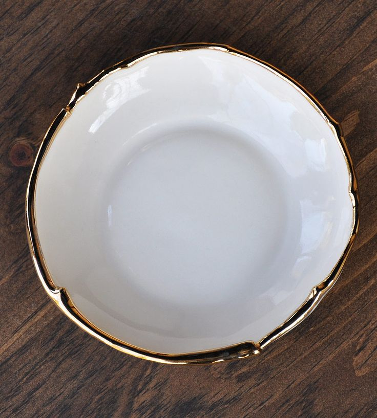 Gold dipped Bowl//