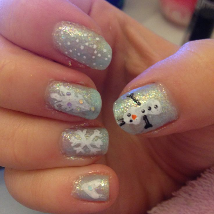 Frozen Disney Nail Art | Car Interior Design