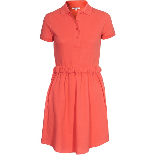 CARVEN Polo Coral Shirt dress with polo collar ($130) liked on ...