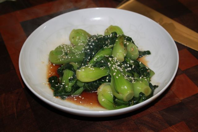Baby Bok Choy with Soy Sauce and Garlic. I LOVE bok choy!