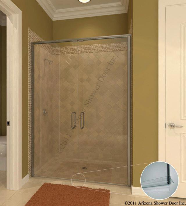 Glass door for bathroom shower - Pin By Arizona Shower Door On Semi Frameless Swing Doors Pinterest