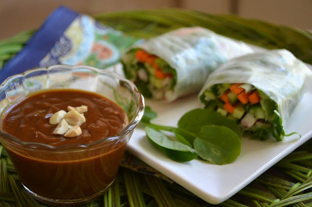 ... Great Island: Vietnamese Summer Rolls with Spicy Peanut Dipping Sauce