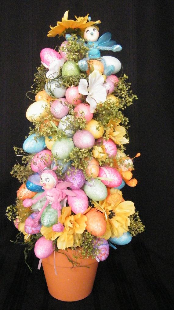 Easter egg tree easter pinterest How to make an easter egg tree