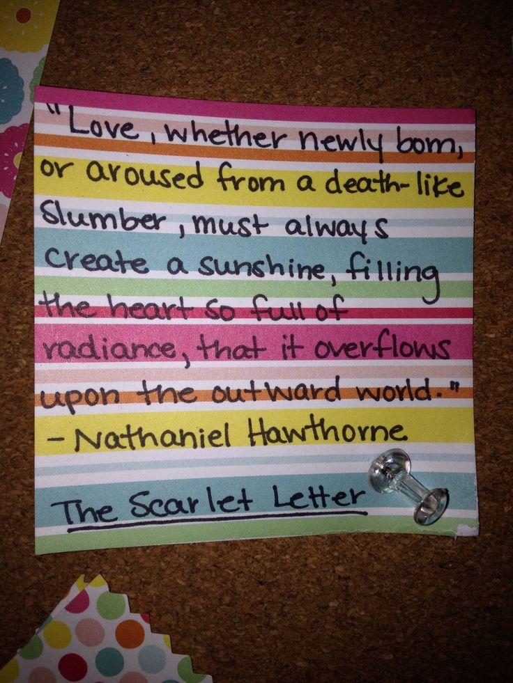 Nathaniel Hawthorne  The Scarlet LetterNathaniel Hawthorne The Scarlet Letter Quotes