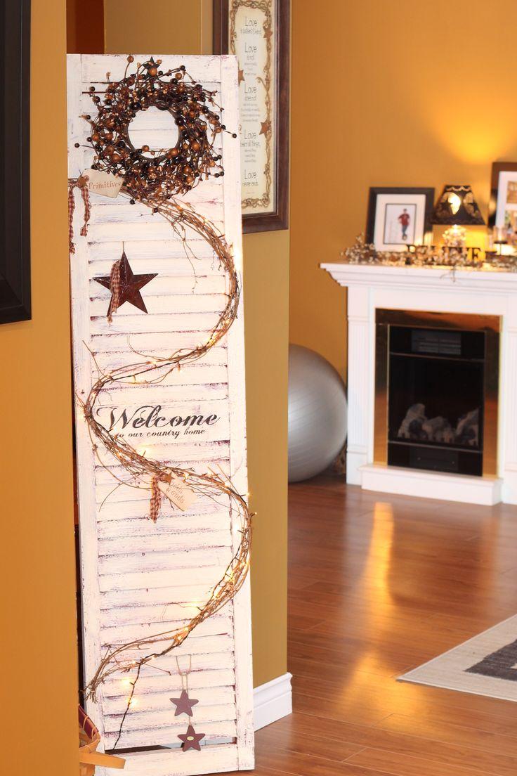 Old wooden shutter americana pinterest for Window shutter crafts