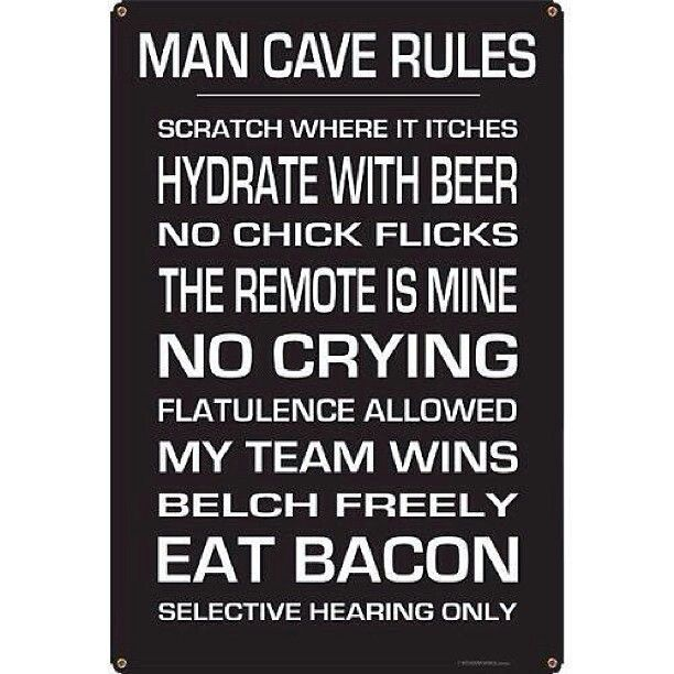 Man Cave Rules Ideas : Man cave rules vintage pin up all american pinterest