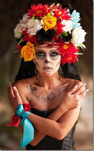 Maquillaje de catrina 8 traditions pinterest - Maquillage dia de los muertos ...