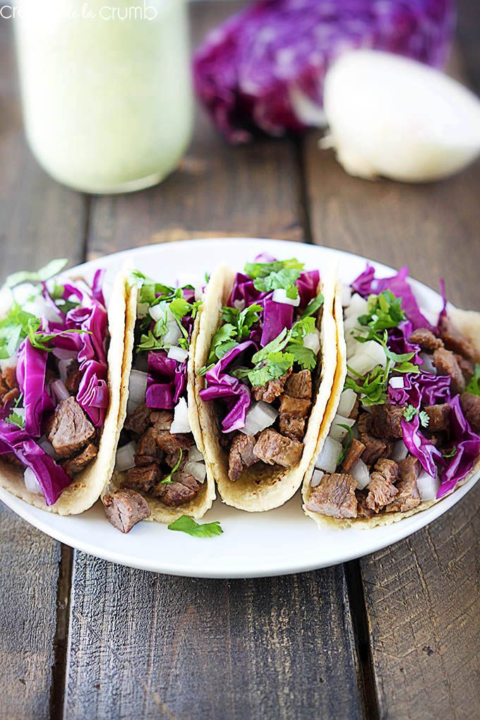 Santa Monica Street Tacos - Creme de la Crumb~T~ A spicy steak topped ...