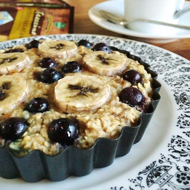 Banana Blueberry Baked Oatmeal | Oats | Pinterest