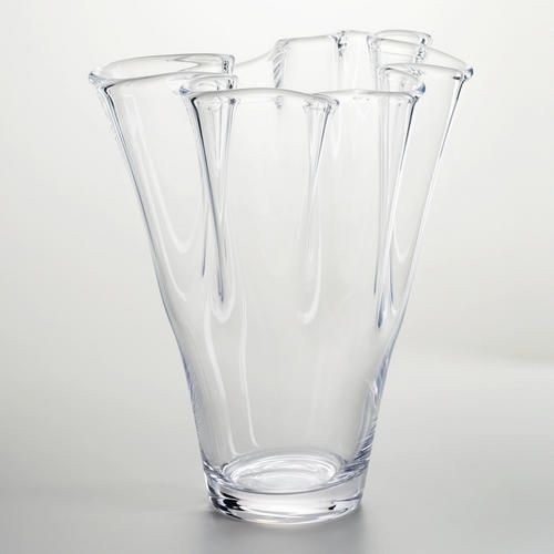 Clear Handkerchief Ruffle Glass Vase | For the Home ... Ruffled Glass Vase