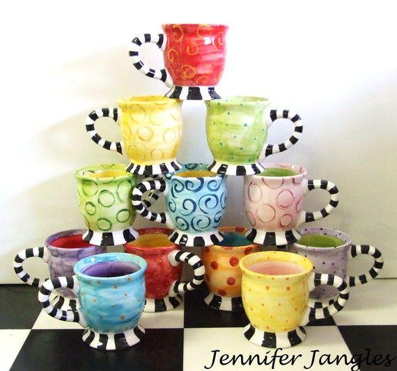 Ceramic painting ideas painting pottery ideas pinterest - Ceramic mug painting ideas ...