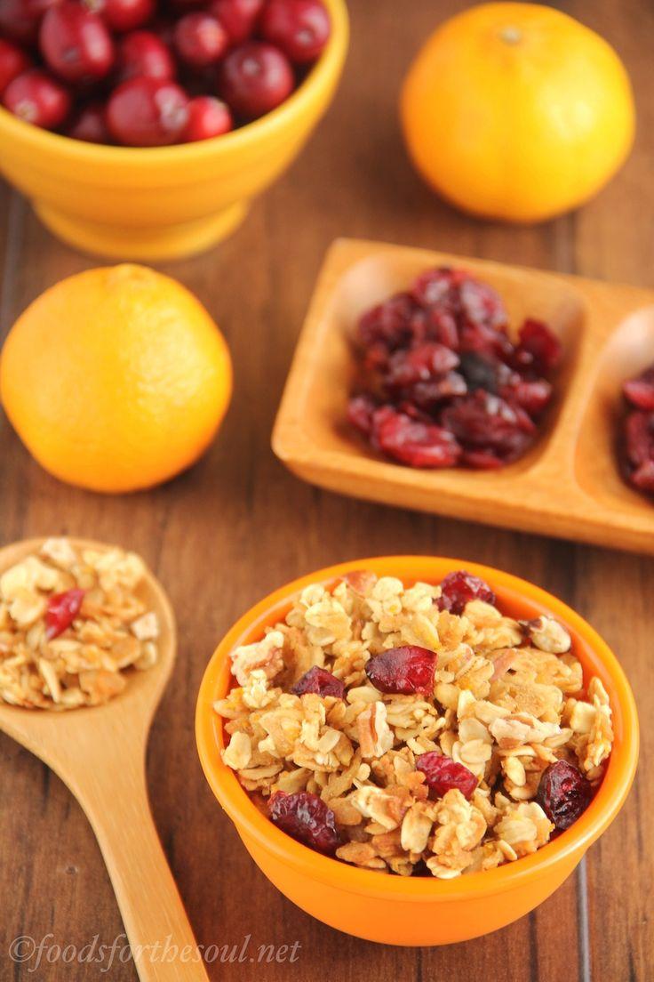 Cranberry Orange Pecan Granola -- sweet, crunchy & skinny! It's so ...