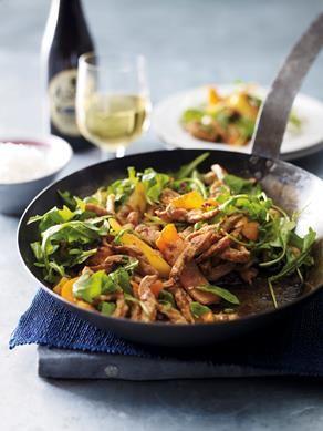 Stir-fried Piri Piri Pork featuring Aspall Organic Cyder Vinegar