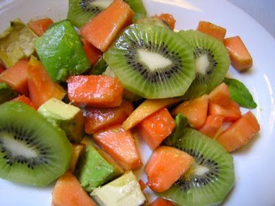 papaya, avocado and kiwi salad | Vegan Recipes - Salads Fruit and Fru ...